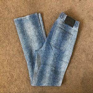 Blue GUESS snakeskin pants!!